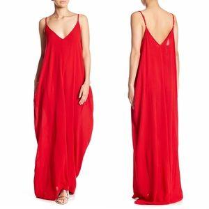 Love Stitch   Women's Gauze Maxi Dress S/M Tomato